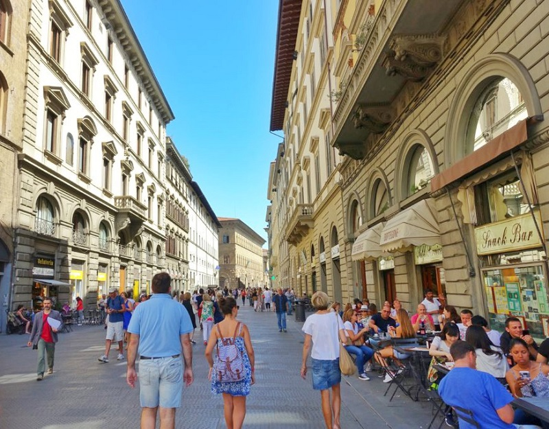 Straat in Florence.
