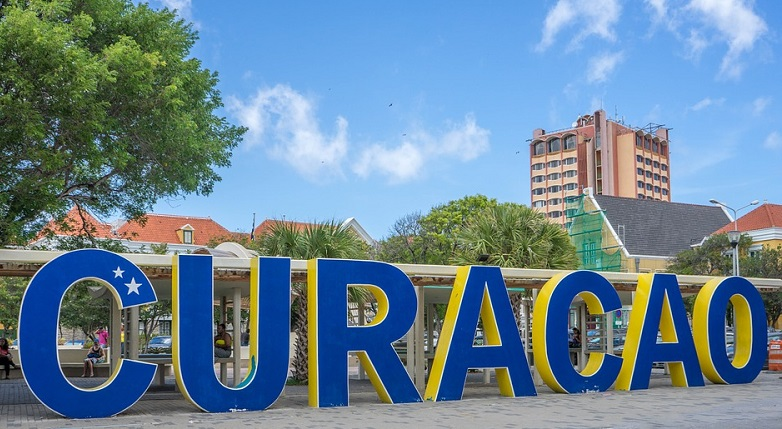 Curacao letters in Willemstad.