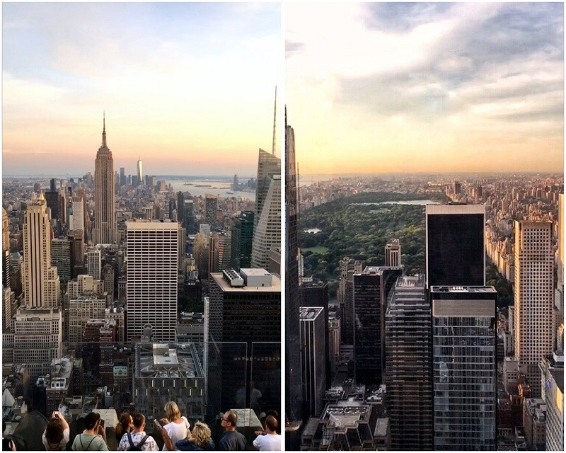 Top of the Rock 360 graden uitzicht.