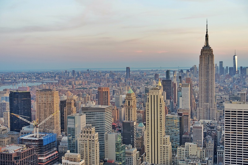 Mooiste uitzicht over New York vanaf de Top of the Rock.