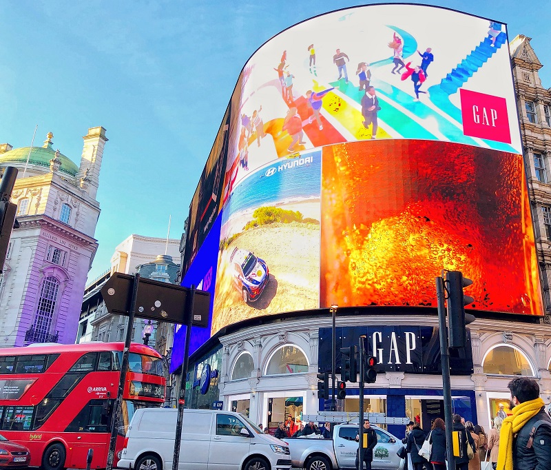 Picadilly Circus weekend Londen.