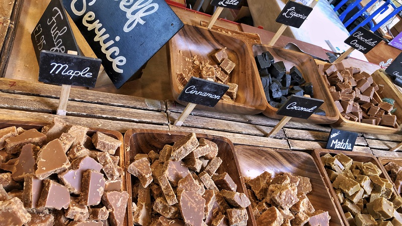 Fudge Borough Market Top 5 leukste food markten in Londen.
