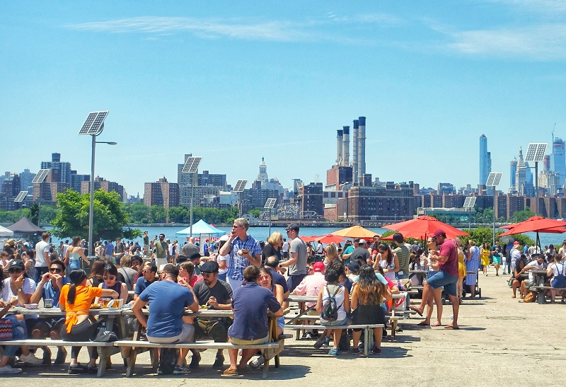 Picknicktafels Smorgasburg New York