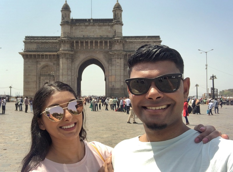 Selfie Gateway of India.