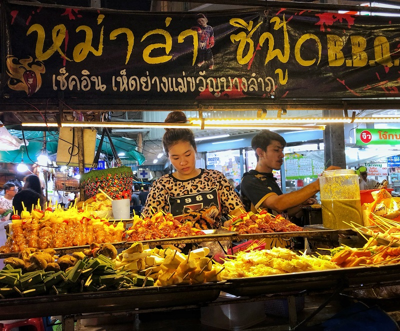 Street food kraam Bangkok