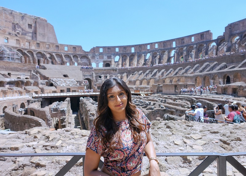 Foto in het Colosseum